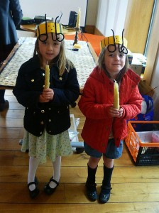 Busy Bees with Beeswax candles at Booths Bee awareness day